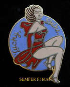 Lucky Strike Nose Art Ww 2 Lapel Hat Pin Up Military Wing Airshow Veteran L@@k