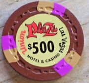 500 Vintage 1st Edt Gaming Chip From The Union Plaza Casino Las Vegas