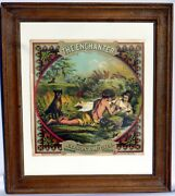 1 Of 3 Beautiful Lithographed Tobacco Crate Labels. Late 1800's Original, Unused