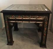Moroccan Camel Bone And Etched Wood And Metal Table