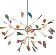 Colorful Agate Led Ceiling Fixtures Metal Pendant Lighting Firefly Ceiling Lamp