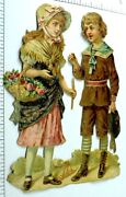 Lovely 6 1/8-7 1/8 Tall Lot Of 6 Original Victorian Die Cut Scraps Ando