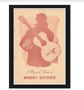 Bound For Glory Concert Program Pythian Hall Nyc Woody Guthrie