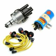 Vw Bug Ignition Kit 009 Distributor, 12v Bosch Blue Coil, Yellow Wires