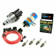 Vw Bug Ignition Kit 009 Distributor W/compufire,12v Bosch Blue Coil, Red Wires