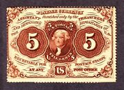 Us 5andcent First Issue W/o Abc Fractional Currency Note Fr 1229 Au-cu -002