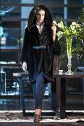 Brand New Exclusive Real Mink Cape With Big Hood, In Blackglama, Blue Iris,grey