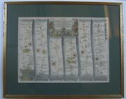 London To Towcester Antique Road Map By John Ogilby, C1675