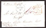 Gb Ms Prepaid On Cover W/ Liverpool Octagon Forwarded To Ny