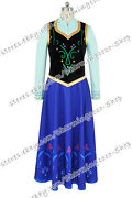 Frozen Cosplay The Snow Queen Anna Princess Costume Daily Dress Party