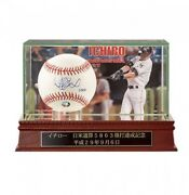 New Ichiro Autograph Ball Japan And Usa Total 5863 Base Hit Achieved Memorial