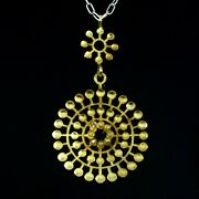 Bent Exner 1932-2006. Fire-gilded Sterling Silver Necklace With Acrylic Glass