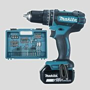 Drill Driver With Percussion Makita Dhp482rfx1 +74 Accessories