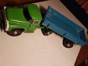 Large Vintage Russian Model Zil Truck With Trailer