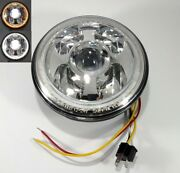 """Premium 7"""" High Power Cree Led Projection Headlight - Dual White/amber Halo Ring"""