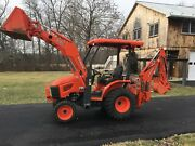 Kubota B26 Commercial Duty Tractor Loader Backhoe, 2016 Mod, 298 Hrs, Hyd Thumb