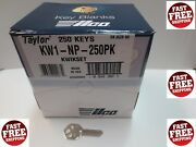 250 Ilco Nickel Plated Over Brass Kwikset Kw1/np / Made By Ilco In Usa