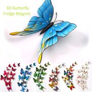 Large Size 3d Butterfly Fridge Magnet Wall Stickers Art Decal Room Decorations