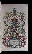 Collins Peerage Of England 1768 7 V Heraldry 217 Crest Hand-colored Coat Of Arms