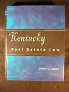 Kentucky Real Estate Law By Virginia L. Lawson Hardcover 2004