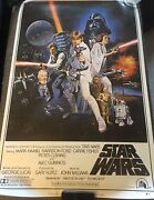 Harrison Ford Full Name Signed Autograph Star Wars 24x36 Movie Poster Beckett