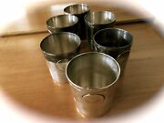Sterling Silver Rare Taxco William Spratling Mid Century Tumblers 6
