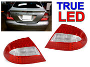 Depo Amg Red/clear Led Rear Tail Lights For 2003-09 Mercedes Benz W209 Clk Class