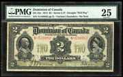 1914 Dominion Of Canada 2 - Pmg Vf25 - Dc-22c - S/n N-539982/d