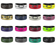 Concitor Reversible Belt Solid Colors And Black Bonded Leather Pewter-tone Buckle