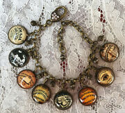 Ouija Board Altered Art Glass Dome Charm Bracelet From Vintage Game Images