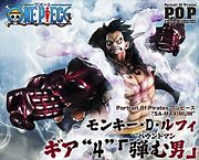 One Piece Luffy Gear 4 Bound Man Figure Portrait.of.pirates Megahouse Anime New