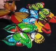 Attractive 3d Butterfly Fridge Magnet Wall Stickers Art Decal Room Decorations