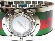 Womenand039s Twirl Ya112417 Stainless Steel / Plastic Green And Red 1ct Watch