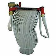 New Moon American-fire Hose Pin Rack Unit-75 Ft Hose-plastic Nozzle-steel-red