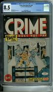 Crime Does Not Pay 47 Cgc 8.5 Electric Chair Electrocution 2nd Highest Graded