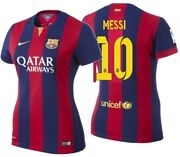 Nike Lionel Messi Fc Barcelona Womenand039s Home Jersey 2014/15