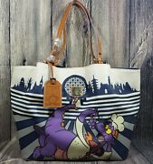 Disney Dooney And Bourke Epcot Food And Wine Festival 2017 Figment Purse Le Msrp 308