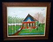 1960s Dutch Oil Painting Spring In Holland By Cornelis Kaay 1905-1979 Hma