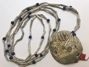 Tlingit Chief Dentalia Shell And Trade Bead Necklace With Trade Cloth 1890and039s