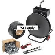 New Strapping Kit 1/2 X 9000' With Tensioner, Crimper, Seals And Cart