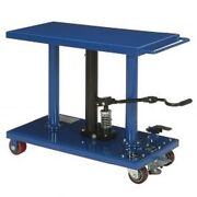 New Work Positioning Post Lift Table Foot Control 1000 Lb. Capacity