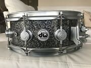 Dw Snare Drum - Collectors Series Super Solid Snare Black Glass/satin Chrome