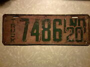 1st Year Truck Plate 1920 Indiana Truck License Plate Paint Free Shipping