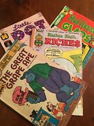 🤓comic Book Lot Little Dot ,the Great Grape Ape ,richie Rich And Mad House 🤓