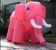 Custom Simulated Models Giant Inflatable Pink Elephant For Sale 6m Long New Nc