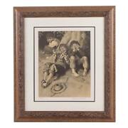 Rare 1932 Norman Rockwell Hand Signed Framed L/e Lithograph First Smoke W/coa