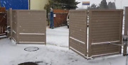 Aluminium Automatic Folding Gate - For Small Spaces Manufacturer Poland Ready