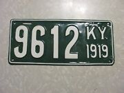 1919 Kentucky License Plate  Free Shipping