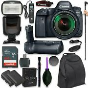 Canon Eos 6d Mark Ii Dslr With Ef 24-105mm F/3.5-5.6 Is Stm Lens + 17 Items