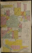 Michigan Genesee County Map Fenton Flushing 1907 Double Page L2061
